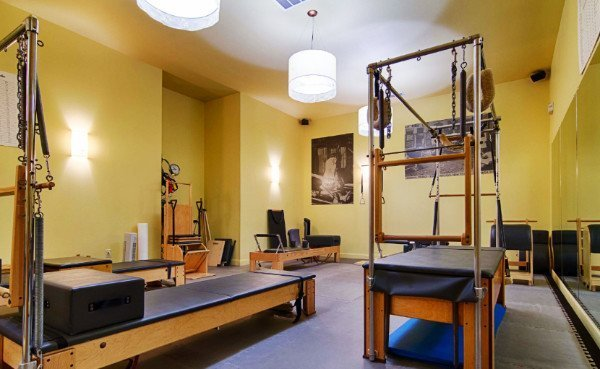 Another view of the wooden pilates equipment at our Pilates Studio in Charleston SC